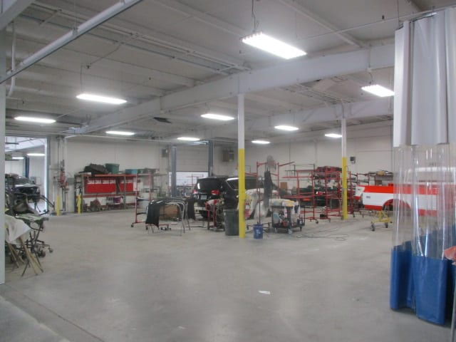 auto body bend or work floor